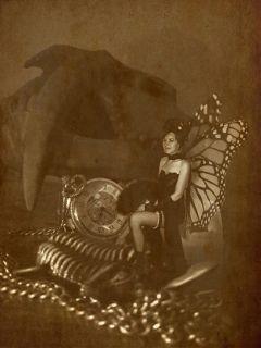 saloongirls fairy girl steampunk pocketwatch