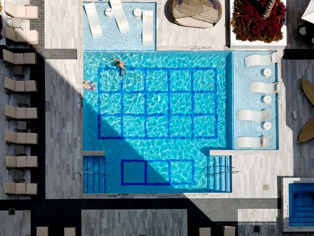 #pool #water #blue #lookdown  #summer #loungechairs