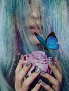 freetoedit womanportrait rainbowlight editedwithpicsart