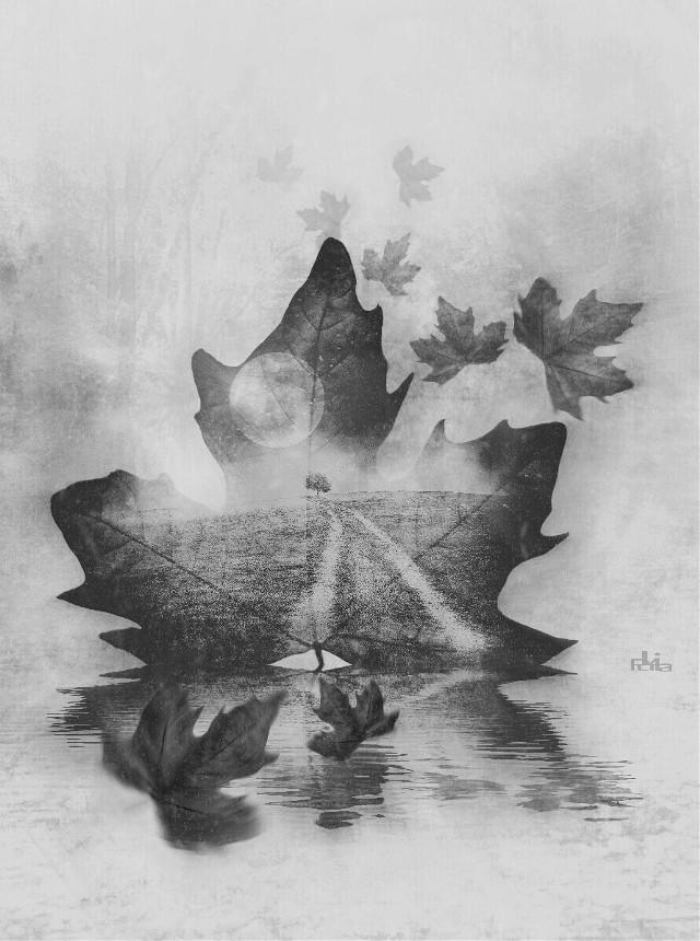 #darkart #darkness #darkside #sad #doubleexposure #doublexposure #blackandwhite #landscape #fantasy #surreal #leaves #artistic #madewithpicsart #editedbyme #myedit #nofreetoedit   https://youtu.be/9kZJI43p_gs