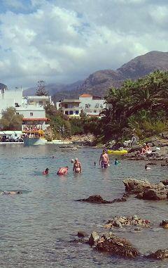 crete sissi beach harbour greece freetoedit