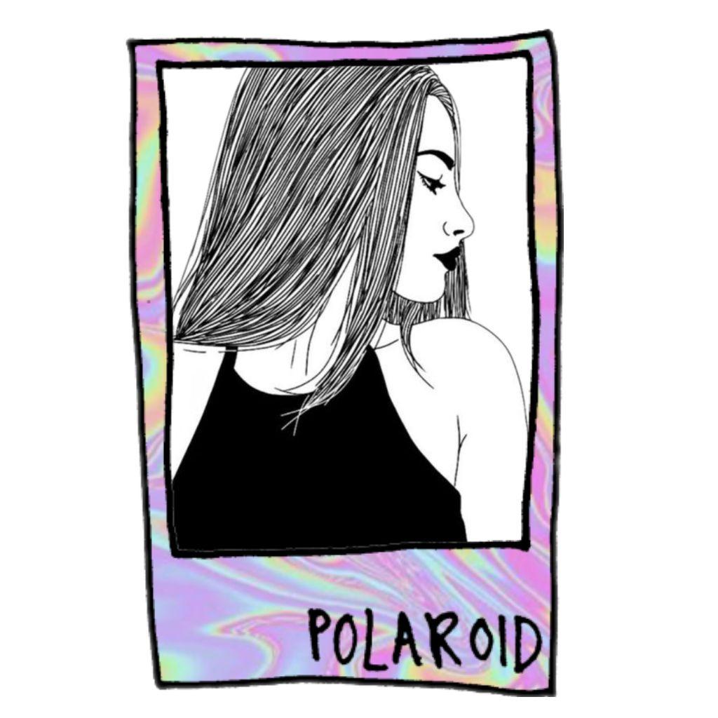 Girl polaroid holographic blackandwhite picture picsart girl polaroid holographic blackandwhite picture picsart jeuxipadfo Images