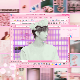 pink jin bts my freetoedit