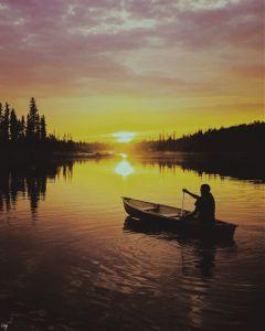 freetoedit sunset boy water nature