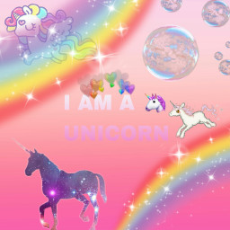 unicorn rainbow freetoedit