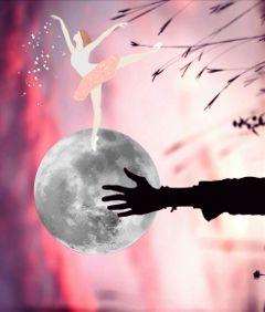 ballerina moon sparkles freetoedit