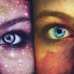 freetoedit space galaxy stars eyes