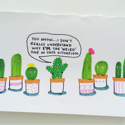 illustration cactus feminism