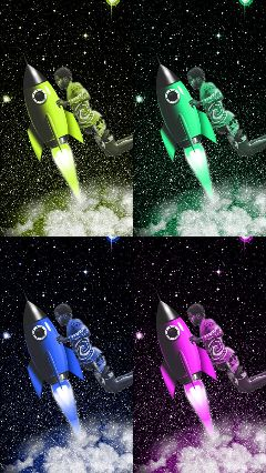 freetoedit rocket colors space galaxy