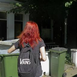 colorful hair england vans backpack girl londongreentrash