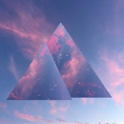 freetoedit geometric shapes sunset clouds