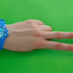 freetoedit watch hand green background