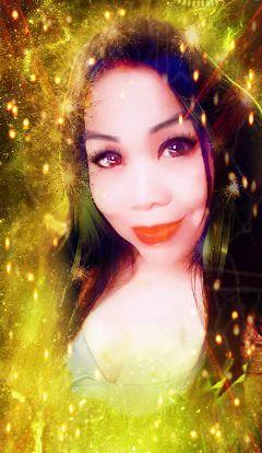 sparklyselfie freetoedit portrait selportrait bokeh