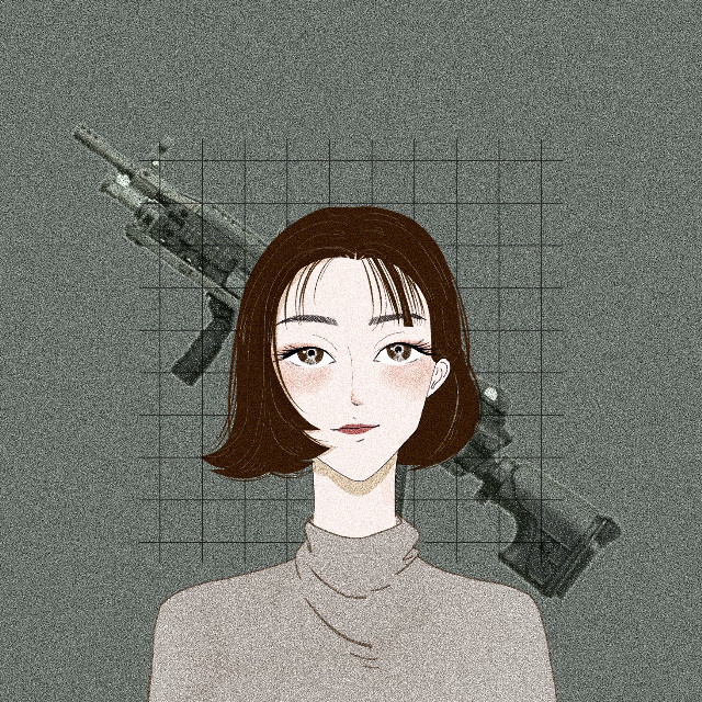 #freetoedit #killerqueen #killer #girl #cool #power #green #gun #war #fire #illustration #painting #portrait #shorthair #brown #beauty #art