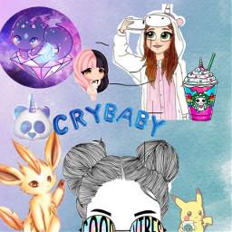 lovegalaxy crybaby unicornfrappuccino kawaiicute freetoedit
