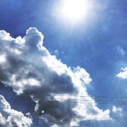freetoedit clouds sunlight blueskys