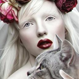 catdayremix womanportrait