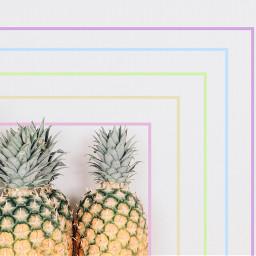 freetoedit pineapple rainbow pastel pastelrainbow