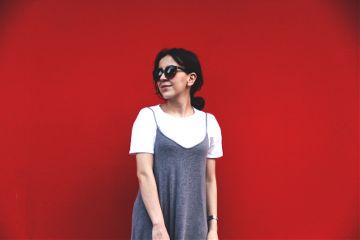 freetoedit girl glasses red dress