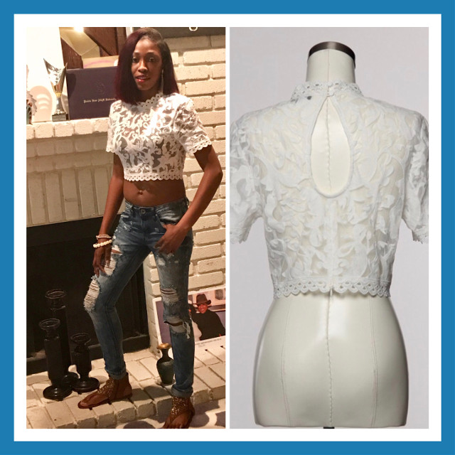 A_List! Stop searching for the best Summer Stylez...JUST ARRIVED....LACE CROP BLOUSE...$29.99...Inbox Me...GOING FAST...DON'T MISS OUT!!!! #AListStylez. #SummerStylez. #LaceCrop. #OpenBack #FunFashion. #BoutiqueLife  #GirlsHaveFunLadiesShop #HTownTrends #NotABrandButALifestyle