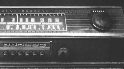 antique radio blackandwhite lowcontrast freetoedit