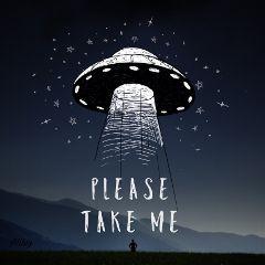 ufo space sticker picsartstickers quote