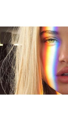 tumblr tumblrgirls girl beautiful rainbow