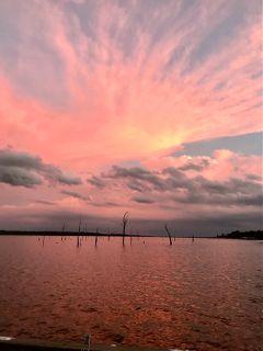 freetoedit lake iphonephotography sunset