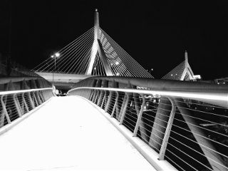 boston bridge architecture lines blackandwhite