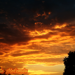 sunset cloudscenery weatherphotography beauty