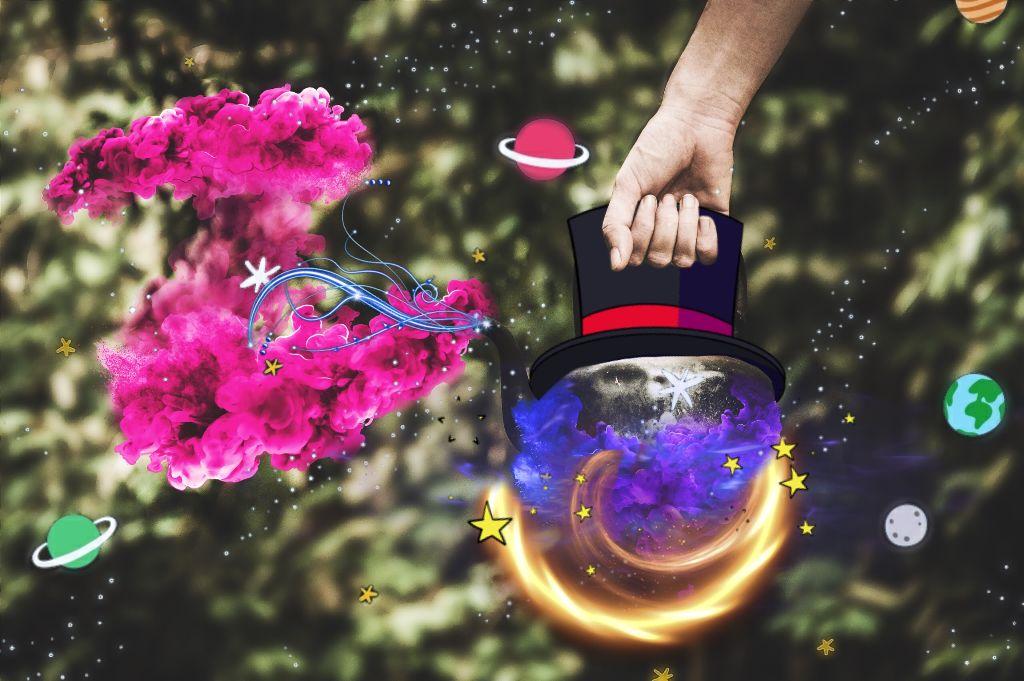 🎉 💫 Let's Make Some Magic! 💫🎉  💤❤️ Good Night my PicsArt Friends! 💤❤️ #magic #magician #teapot #remixed #remixit #myremix #magicsmoke #magical #imagination #goodnight #friends #picsart #freetoedit from @freetoedit #image