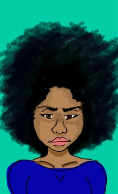 afro afrogirl beautiful colorpaint draw