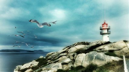 lighthouse coast sea galicia galiciaunica freetoedit