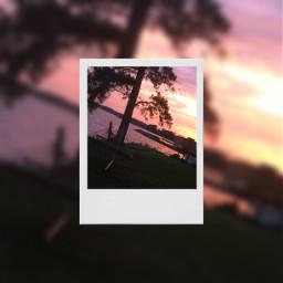 freetoedit sunset poloroid pic sea