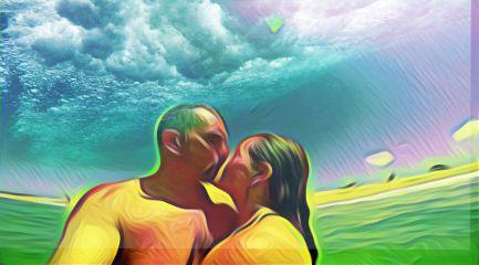 beach love artisticselfie color oilpainting