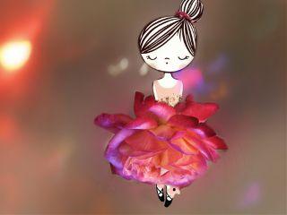 edited doubleexposure rose ballerina bokeh freetoedit