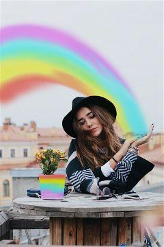 rainbow rainbowdreams rainbowlight rainbowcolors color freetoedit