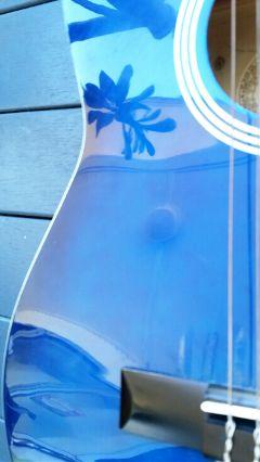guitar blue reflections shiny freetoedit