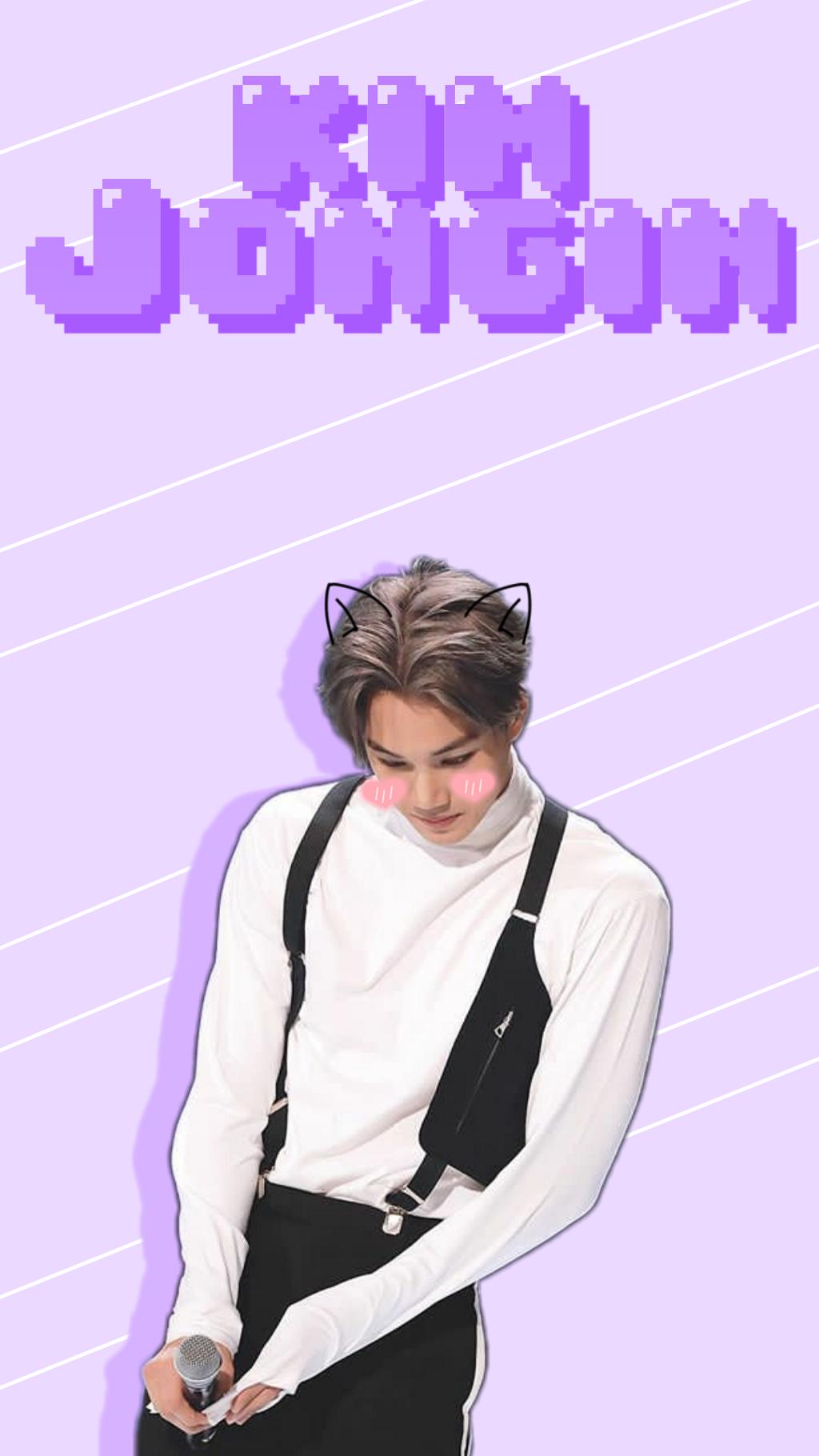 Exo Kim Jongin Kai Wallpaper Purple