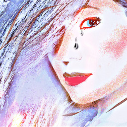 people face woman colours editedbymewithpicarsart