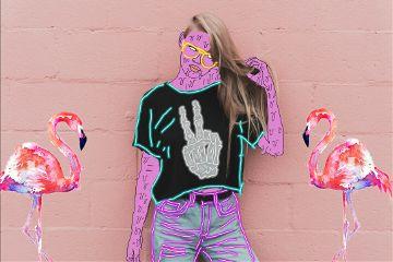 freetoedit grimeart neonoutlines girl