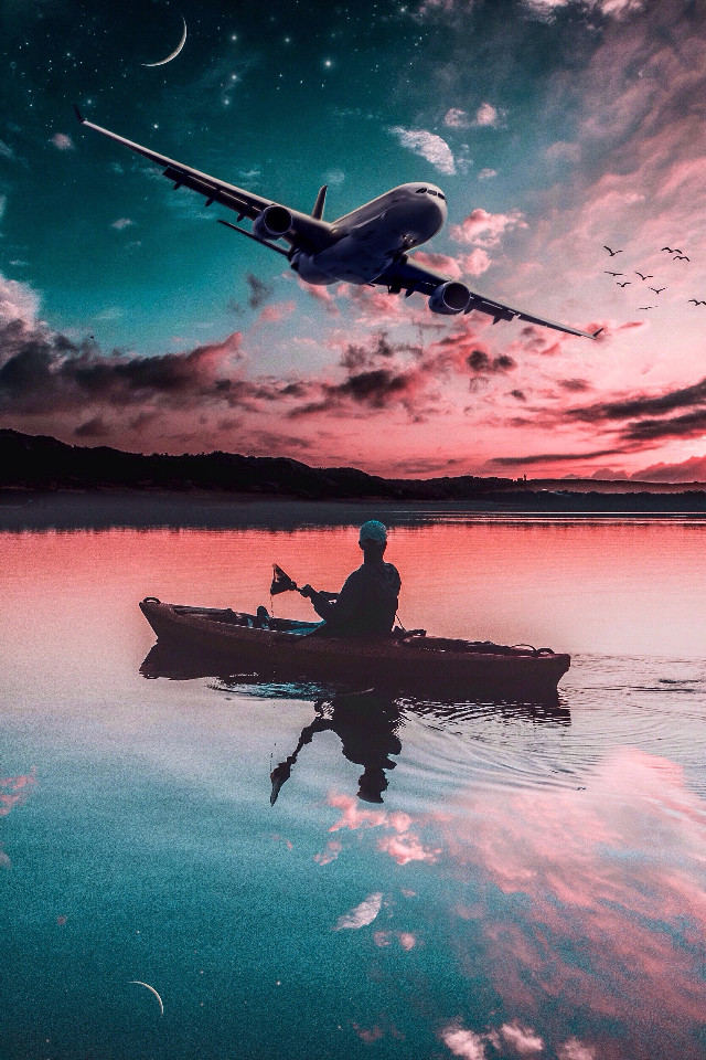 #madewithpicsart #edited #lightroom #colorfull #people #boat #starrynight #magical