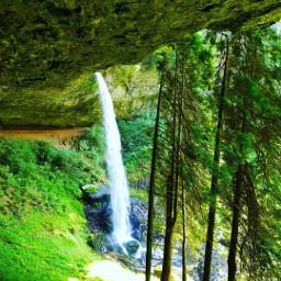 freetoedit waterfall green quotes herpnwlife