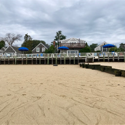 beach houses umbrellas freetoedit