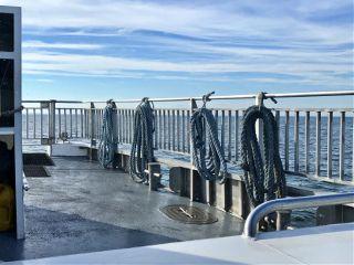 boat rope blue sea travel