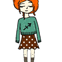 freetoedit zodiac sagittarius girl drowing