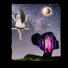 dream alone myself night moon