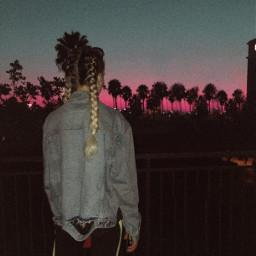 freetoedit cali california palmtree braids