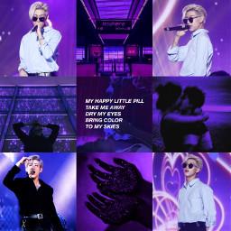 got7 bambam aesthetic moodboard purple