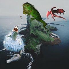 freetoedit island dinosauri iguana greeniguana